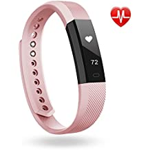 Fitness Armband Lintelek Herzfrequenzmesser fitness tracker Plus HR Sport Uhr Smart Bracelet Spritzwasser geschützt Bluetooth Smartwatch Schrittzähler GPS Smart Armbanduhr Fitness Uhr schlank