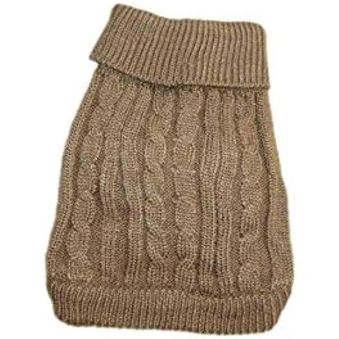 SAMGU Costume del cane di Natale regalo per animali domestici Cani e gatti crochet gilet di lana color caffè leggero size Small