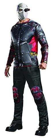 Deadshot - Suicide Squad - Adult Kostüm, Black & Red, Männer: 38 'bis 42' (Großbritannien Kostüm)