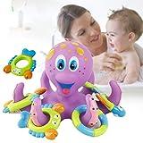 Juguete de baño de los niños Juguete de baño de pulpo círculo de lanzamiento Juguete de bebé de verano que juega agua Juguete de baño flotante Juguete Baby Shower