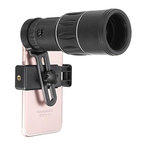 Gaddrt 16x52 Zoom Double Focus Monoculaire Télescope 66M/8000M de Porte-téléphone Pochette