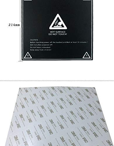 Surface de construction d'impression 3d, plateforme de construction magnétique Flexible de 214mm x 214mm pour imprimante 3d (Noir,1pièce)