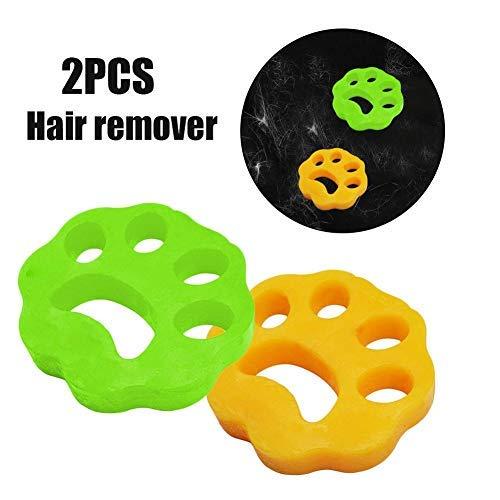 Bouncevi Waschmaschinen-Haarentferner, Haarentfernungsball Für Kleidung/Bettwäsche Wiederverwendbarer Reinigungsball Schwimmender Tierfänger Waschtrockner Schwimmender Ball - 2er-Pack