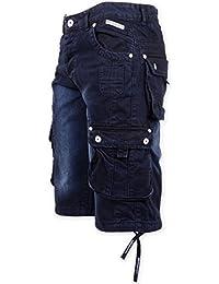 Hommes Crosshatch Nordica Clair Ou Délavé Foncé DécontractéÉté Vintage Short Jeans