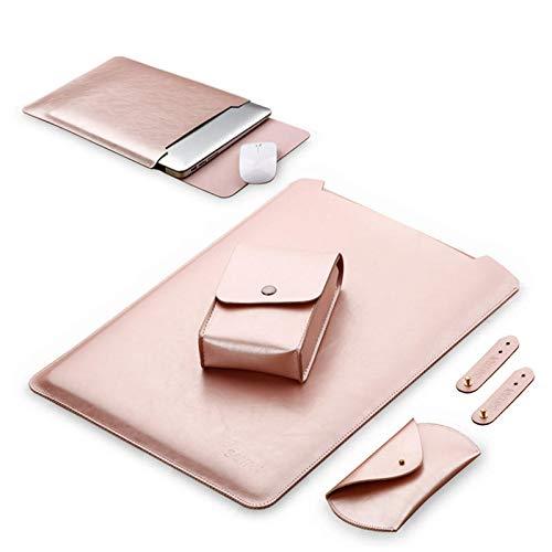 Leder Dvd-rack (LaDicha 1 Satz Wasserdichtnotebook Ärmel 15,6 Zoll Pu Leder Laptop Tasche Fall Abdeckung Für Xiaomi Air Notebook - Rose Gold)