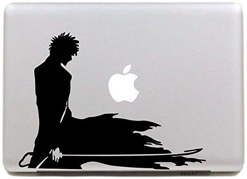Vati Blätter Removable NARUTO Vinyl Aufkleber Aufkleber Skin Art Schwarz für Apple Macbook Pro Air Mac 13
