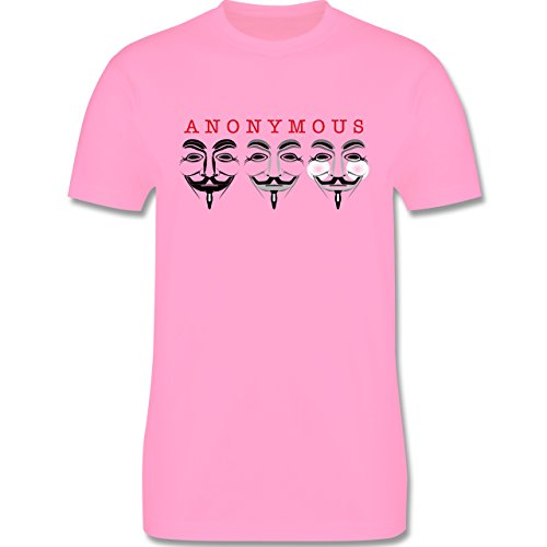 Nerds & Geeks - Anonymous Die Namenlosen drei - Herren Premium T-Shirt Rosa