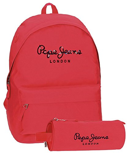 Pepe Jeans Harlow Mochila Escolar, 42 cm, 22.79 Litros, Rosa