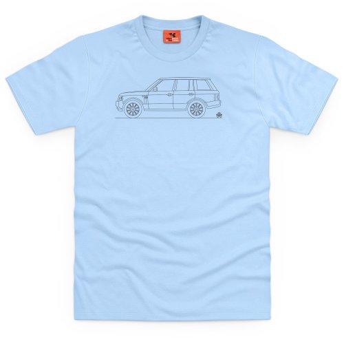 PistonHeads Range Vogue SUV T-Shirt, Herren Himmelblau