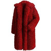 JiaMeng Abrigo Grueso Grueso Abrigo sólido Abrigo Exterior Chaqueta de Abrigo Chaqueta de Punto con Capucha suéter Abrigo(Rosado,XXL)