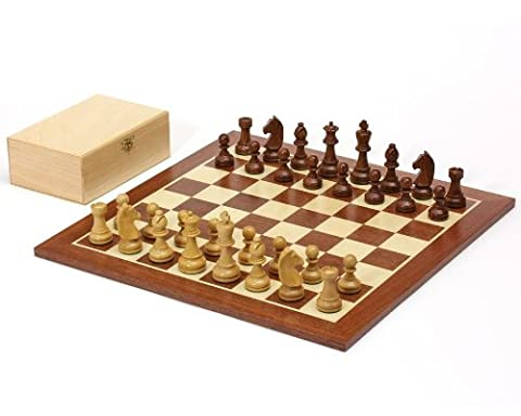 16 Inch Shesham Classic with Mahogany Chess Board & Birch Wood Box
