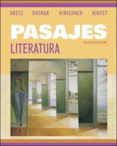 Pasajes: Literatura by Mary Lee Bretz (2005-10-27)