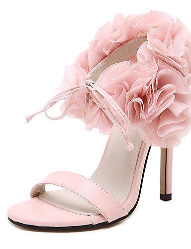 UWSZZ IL Sandali eleganti comfort Scarpe Donna-Sandali-Formale-Tacchi / Plateau / Aperta-A stiletto-Finta pelle-Nero / Rosa Black