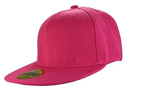 Casquette Fitted | Caps Blank vides à broder ou imprimer en Casquette Hip Hop dans 7 couleurs uni noir, blanc, orange jaune, vert neon, rouge, pink schwarz, weiß, orange, gelb, neongrün, rot, pink pink
