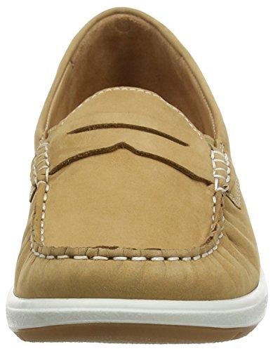 Ganter GRACE, Weite G, Mocassins (loafers) femme Marron - Braun (camel 1100)