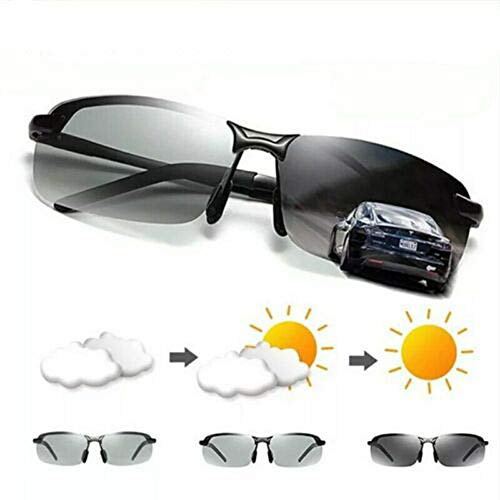 Dragon Honor Men's Photochromic Sunglasses with Polarized Lens for Outdoor 100% UV (Gun Grey)