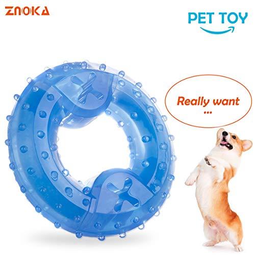 ZNOKA Productos para mascotas Arctic Freeze Fetch Alimento enfriamiento Teether Chew juguete (anillo)