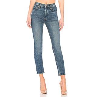 H HIAMIGOS Skinny Jeans Denim High Waist Slim Leggings Röhrenjeans Bleistifthose Bleistift Hose, mid Blue, XS