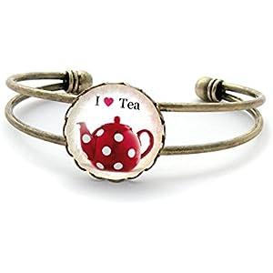 Armband mit cabochon ° I ♥ Tea °
