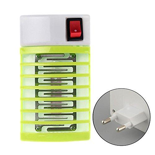 Gogogo Lampe Schlafkabine, LED-Aktenvernichter Mücke Innen Elektronische Lampe ist die besten sécurises und wirksame Lampe für Schlafkabine/Fliegenklatsche–Grün