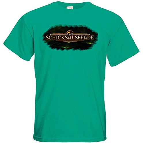 getshirts - Das Schwarze Auge - T-Shirt - Logos - Schicksalspfade Pacific Green