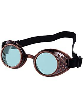 Gafas de Sol para Mujer y Hombre 💋💝 Yesmile Gafas de Sol de Viaje Gafas de Sol Unisex Gafas de Steampunk del...