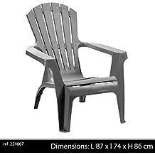 Sunny Days 224667 Chaise De Jardin Anthracite
