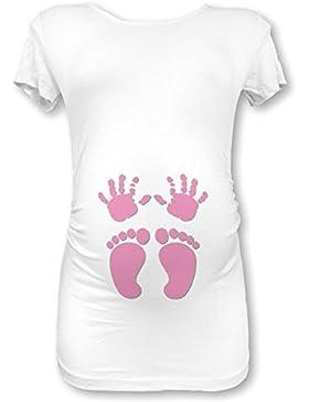 [Sponsorizzato]Babloo Shirt Maglia Premaman Manine e Piedini