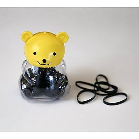 Boîte ourson remplit d'élastiques magiques, modèle au choix