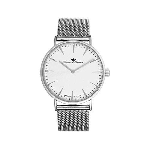 Orologio uomo Yonger & Bresson bianca e argento–HMC 075-bm