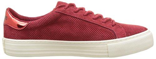Unbekannt Damen Arcade Sneaker Flach Rot (Kirschrot)