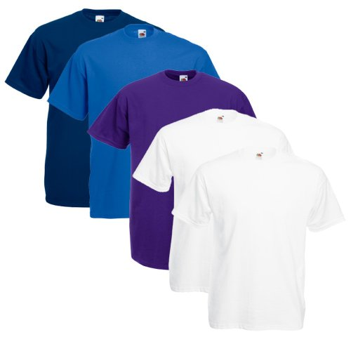 Fruit Of The Loom Original T 5-Pack Logo Men's T-Shirt Farbset Vi