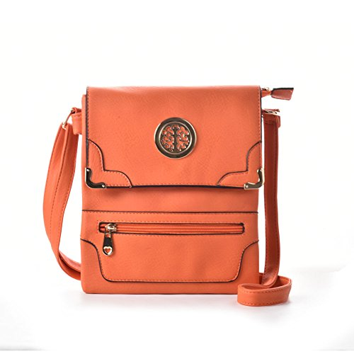 Premium Leather - Borsa a tracolla bambina donna unisex adulto Orange