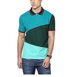 Yepme Men's Green Cotton Polos - YPMPOLO0349_S