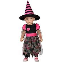 Atosa 22725 - bruja, chica, bebé, tamaño 12-24 meses, negro / rosa