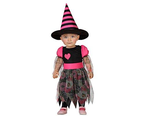 ATOSA 22723 - Hexe Kostüm, Größe 0-6 Monate, schwarz/rose (Baby Hexe Kostüm 3 6 Monate)