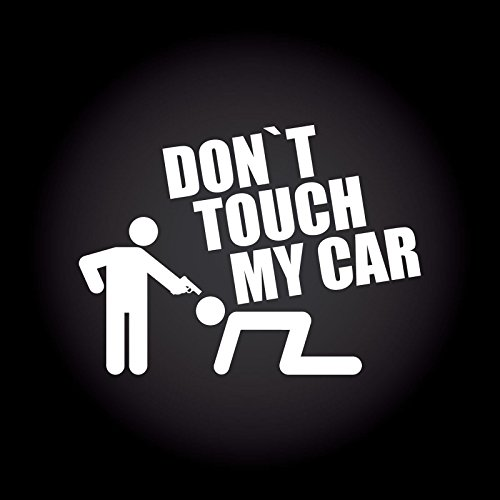 Dont Shop (Don't touch my car Aufkleber 13,7 cm x 10,0 cm JDM OEM Tuning Sticker Decal 30 Farben zur Auswahl)