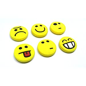 Tennis Feel Sorbifun Vibrationsdämpfer für Tennisschläger, Emojis, 6er Pack Dämpfer