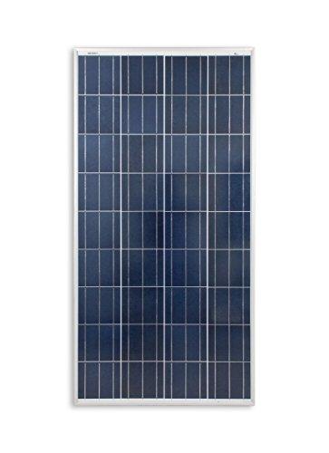 enjoysolar® Polykristallin 130Watt 12V Solarmodul Solarpanel Poly 130W ideal für Garten Wohnmobil Caravan ...