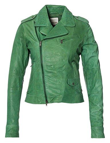 DIESEL Damen Lederjacke Liukki grün 36/S (Jacken Diesel Frauen)