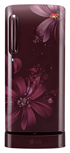 LG 215 L 5 Star Direct-Cool Single Door Refrigerator (GL-D221ASAI.DSAZEBN, Scarlet Aster)