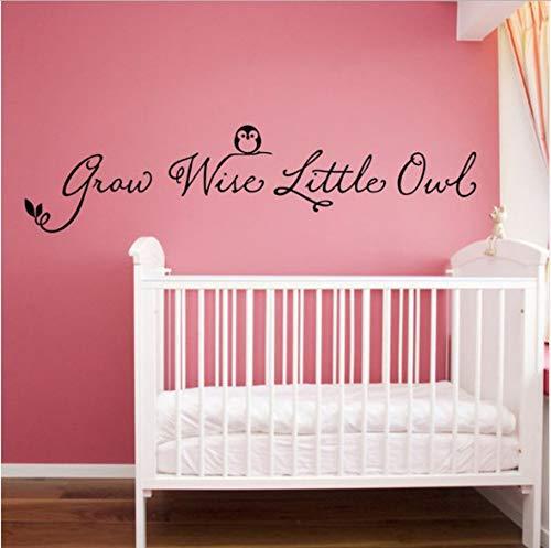 Wall Sticker® Heißer Ebay/Amazonas Wachsen Kluger Vinylwandzitat Aufkleber Der Kleinen Eule Für Baby Scherzt Schlafzimmer Decoration110 * 25Cm