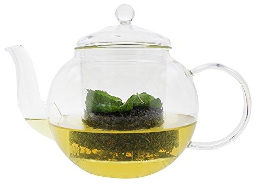 Tetera té Jarra Jarra Jarra Té Tea Cristal térmico para bebidas calientes...
