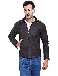Derbenny Brown Pu Leather Jacket For Men