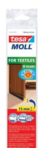 tesamoll Türdichtschiene für Textilböden/Teppich, braun