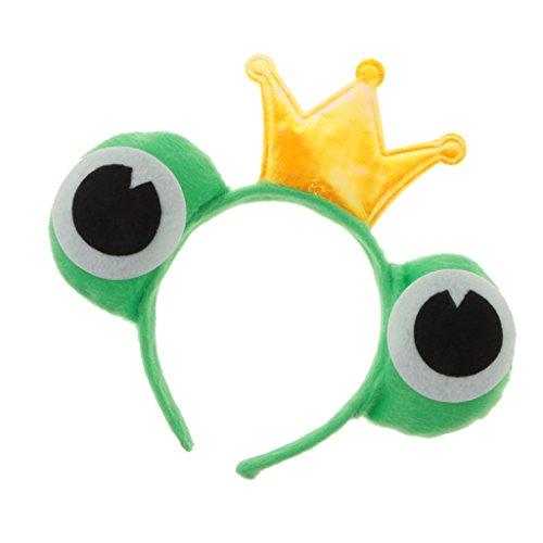 MagiDeal Schöne Frosch Stil Stirnband fancy Kleid Tier Kostüm - Frosch Prinz, 11 cm