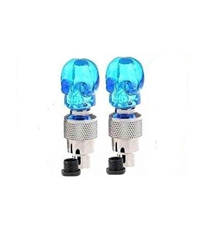 Motoway Blue Bike Tyre Led Skull Wheel Light With Motion Sensor - Set Of 2 For Royal Enfield Classic 350  available at amazon for Rs.101