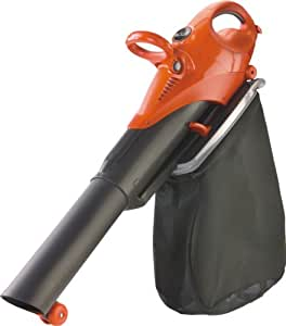 Flymo Scirocco Electric Garden Blower Vacuum with Shredding Ratio 10:1, 3000 W, 200 Kmph - Black