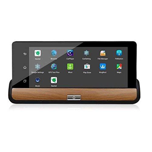 SODIAL 6,86 pollici Android 3G Videocamera Videoregistratore Dash Full HD 1080 p Registratore Wifi Bluetooth doppio Dvr trattino dash cam