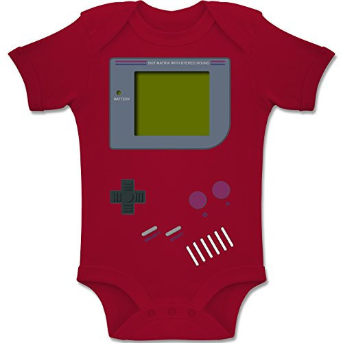 Shirtracer Strampler Motive - Gameboy - 1-3 Monate - Rot - BZ10 - Baby Body Kurzarm Jungen ()